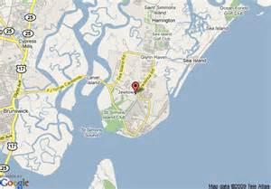 map of hton inn st simons island simons island