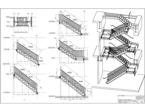 technische zeichnung treppe advanced detailing corp steel stairs shop drawings