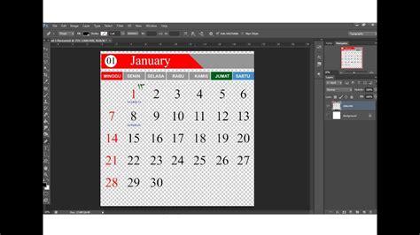 tutorial desain kalender meja cara membuat desain template kalender 2018 lengkap viyoutube