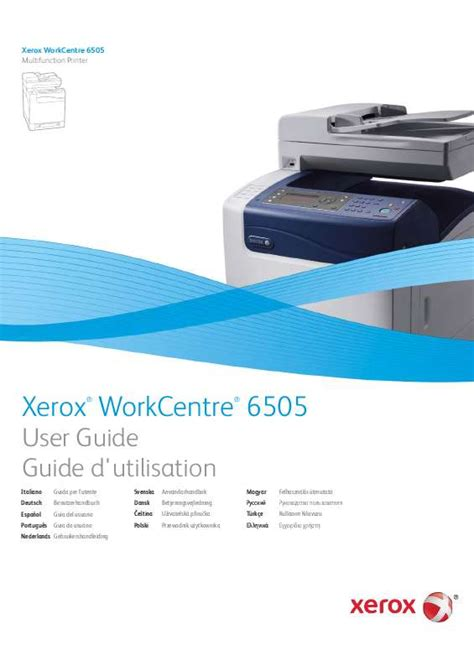 Xerox Cp235w Cover By M mode d emploi xerox workcentre 6505 trouver une solution
