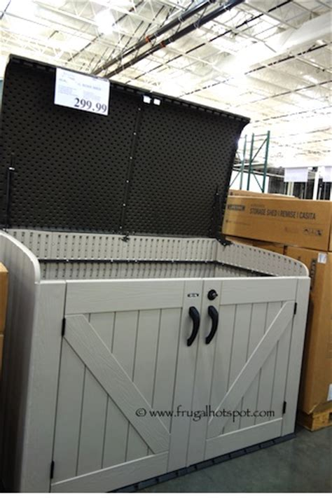 Lifetime Horizontal Shed by Costco Lifetime Horizontal Storage Shed Frugal Hotspot