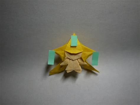 Origami Latios - origami from gold silver ruby sapphire