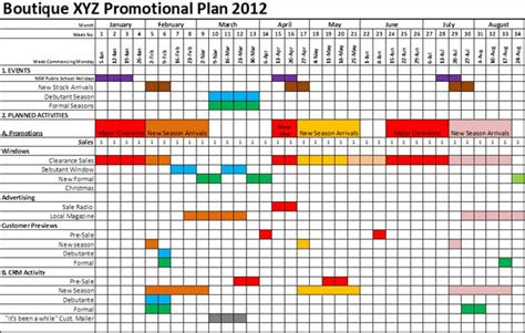 promotional calendar template great printable calendars
