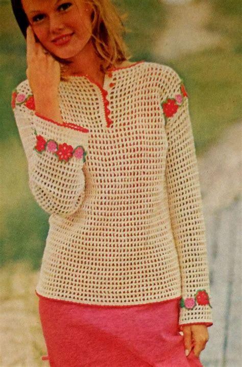pinterest filet crochet blouses filet crochet flower shirt and pattern flower on pinterest