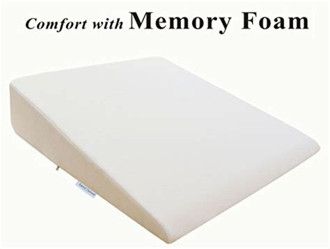 intevision foam wedge bed pillow intevision extra large foam wedge bed pillow 33 quot x 30 5