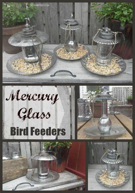 diy faux mercury glass bird feeder very groovy looking