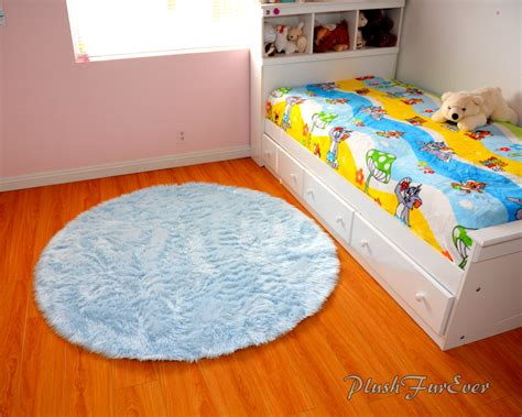 Blue Nursery Rug Baby Blue Luxury Faux Fur Throw Area Rug Nursery Rug