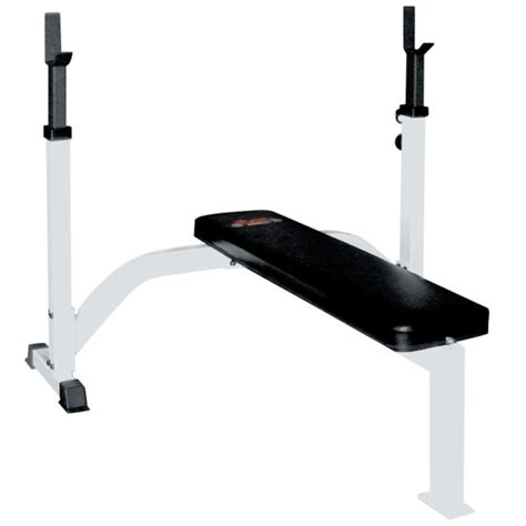flat bench press barbell olympic fixed flat bench press w uprights bench presses