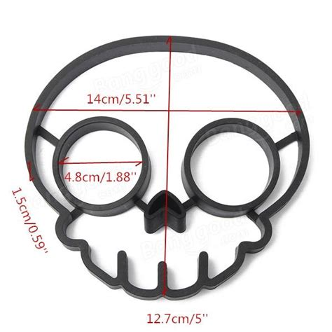 Skull Egg silicone skull egg frying mold breakfast pan cake mould