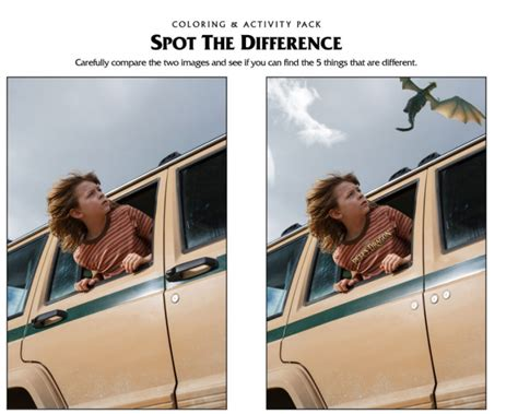 spot the difference 2016 pete s dragon activities coloring pages bookmarks puzzles and more petesdragon