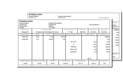 paycheck stub template in microsoft word creating a pay stub for free soft portal