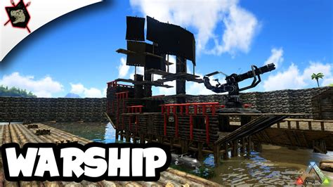 ark cannon boat ark survival evolved 70 pirate ship showcase youtube