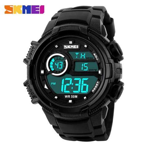 Jam Tangan Digital Skmei Dg1113 skmei jam tangan digital pria dg1113 black white