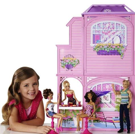 barbie doll beach house new barbie 2 story dollhouse vacation beach doll dream