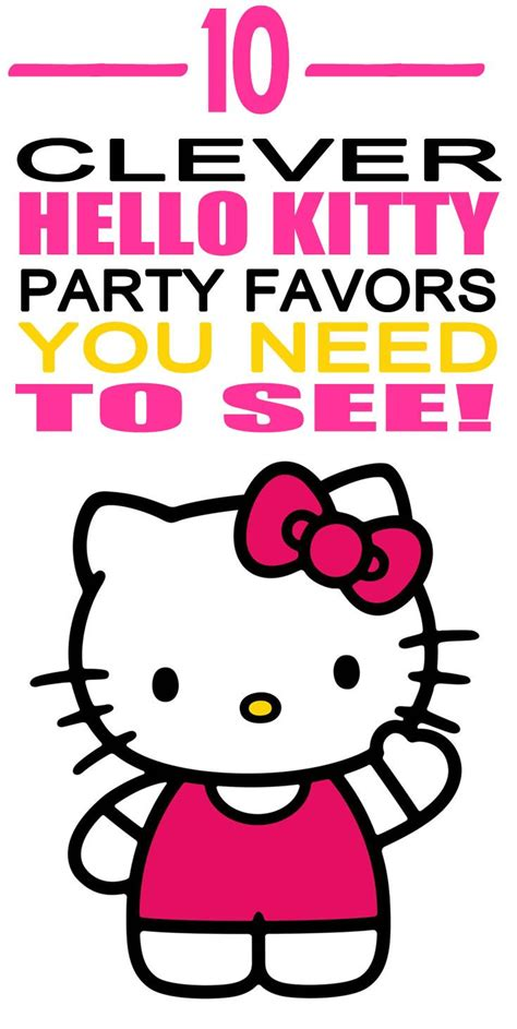 Hello Kitty Birthday Giveaways - best 25 hello kitty favors ideas on pinterest hello kitty birthday theme hello