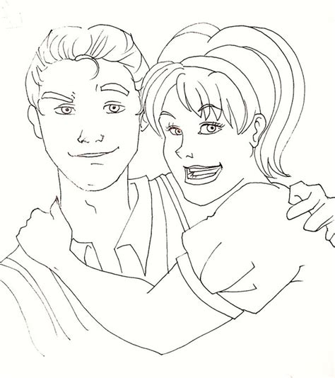 Hairspray Coloring Pages | hairspray link and tracy by daidaiiro on deviantart