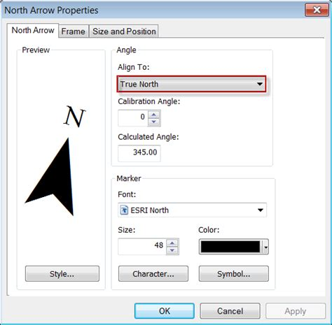 rotate layout view arcgis 10 north arrows and true north 171 yukon gis