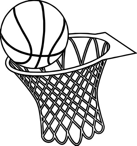 basketball net coloring pages basketball net coloring pages