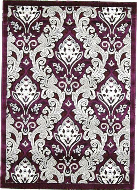 purple damask rug purple 4 x 5 7 damask rug area rugs irugs uk