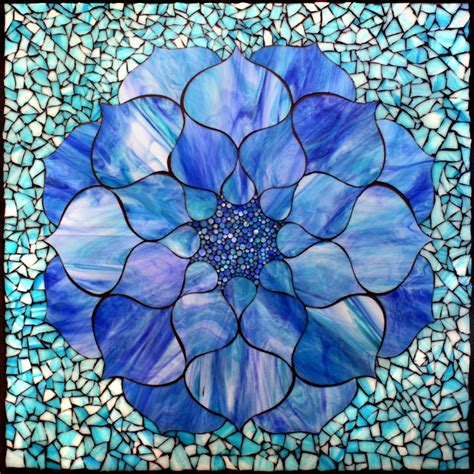 mosaic lotus pattern kasia mosaics blue lotus mosaic