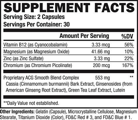 supplement facts supplement facts diabetain c