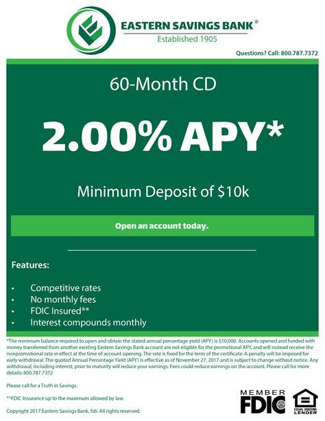 cd at bank 60 month cd eastern savings bank