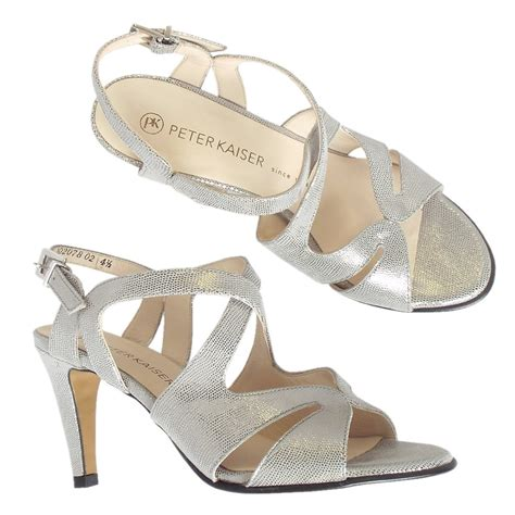 silver strappy evening sandals kaiser padora s evening high heel strappy