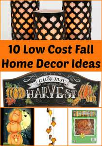 10 low cost fall home decor items living a frugal
