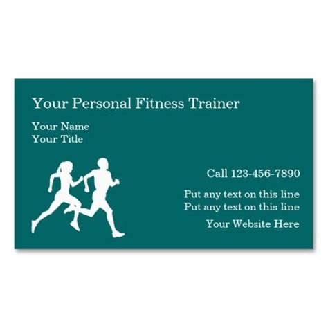 personal trainer business card templates free 169 best images about athletic trainer business cards on