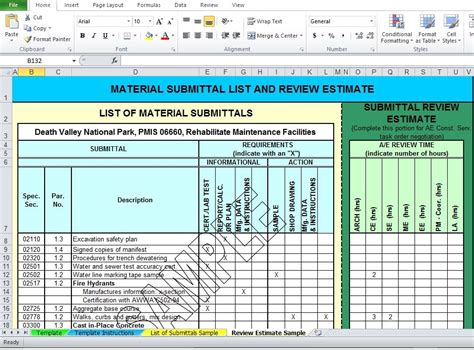 Professional Material List Excel Template Free Download Excel Templates Pinterest Template Material List Template