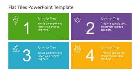powerpoint templates quadrants four quadrants flat tiles slidemodel