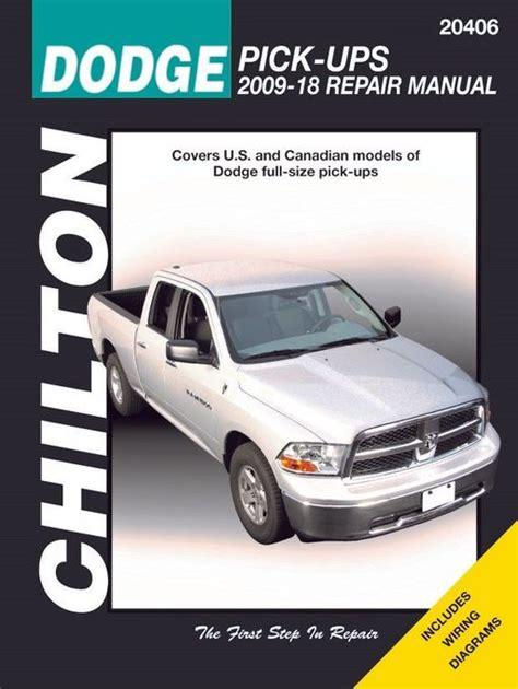 Dodge Ram Repair Manual 2009 2018 Chilton Diy Service Manual