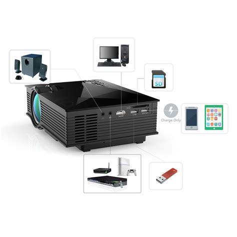 Wifi Lcd Projector mini wireless wifi 1080p lcd projector hd home theater av in sd usb vga hdmi ebay