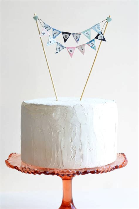 Wedding Cake Bunting by Handmade Just Married Wedding Cake Bunting By May