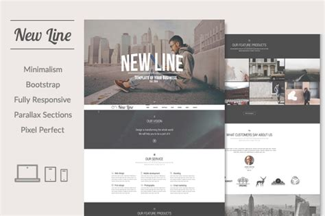 theme line new version new line minimalism html template website templates on