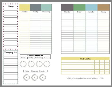 fitness planner template intermittent fasting fitness planner free printable
