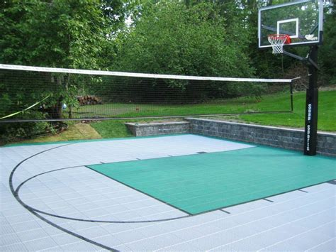 backyard volleyball court backyard basketball court ideas marceladick com