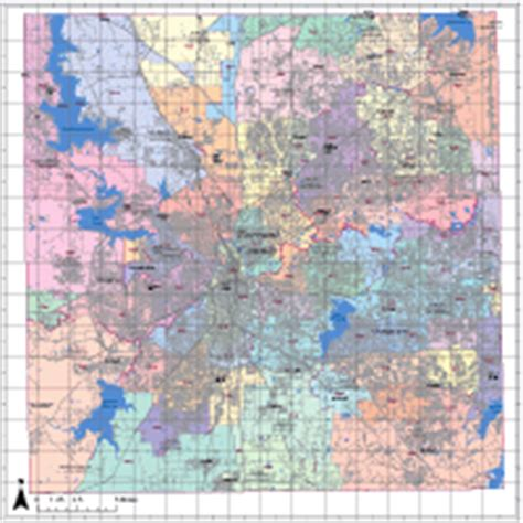 zip code map tarrant county editable tarrant county map illustrator pdf digital