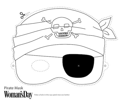 free printable halloween masks to colour free printable halloween masks print and color pirate