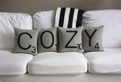 Cozy Pillows Cozy Scrabble Pillows Cases Only Scrabble Tile Pillows