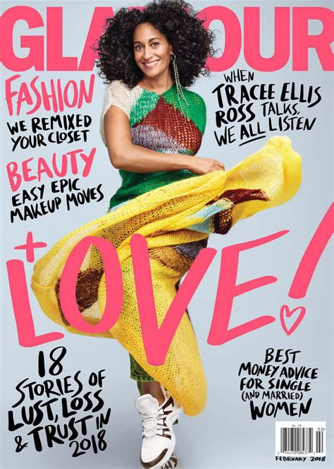 tracee ellis ross magazine cover tracee ellis ross covers the february issue of glamour