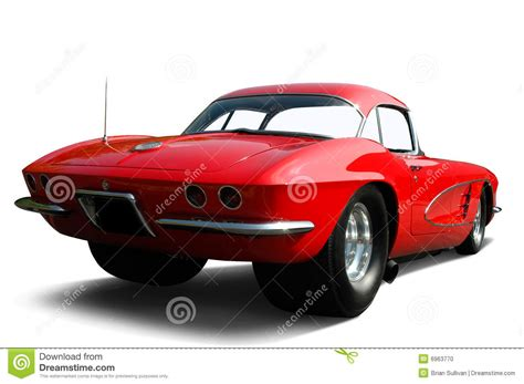 red corvette drag car stock photo image   collector