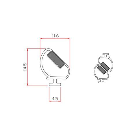 guarnizioni doccia gomma guarnizione magnetica box doccia in gomma ec mag 3322