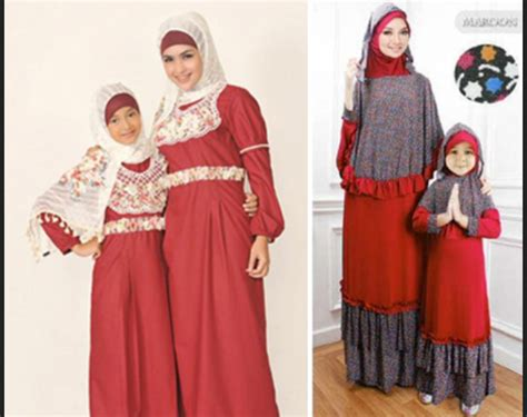 Gamis Dwi Svj 2 model baju ibu dan anak perempuan
