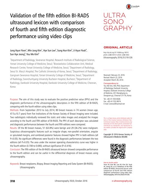 (PDF) Validation of 5th edition Breast Imaging Reporting