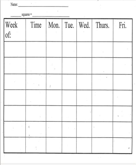 90 weekly behavior chart template free behavior chart