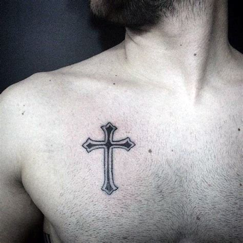 cross tattoos on chest for men 50 simple cross tattoos for religious ink design