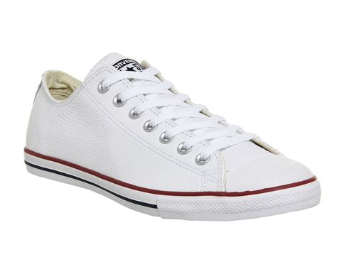 converse ctas lean white leather trainers shoes ebay