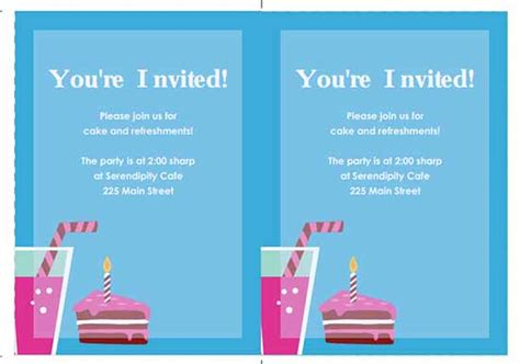 birthday invitations templates word 6 free invitation templates excel pdf formats