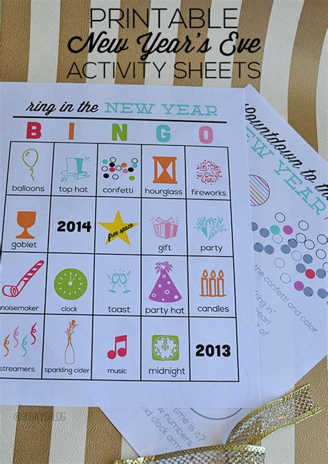 activity new year printable new year s resolutions for